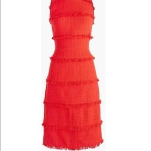 J.Crew Red fitted lined knit dress , size 8